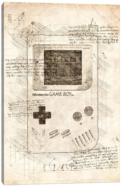 Gameboy Canvas Art Print