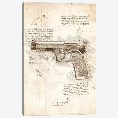 Handgun Canvas Print #CVL46} by Cornel Vlad Canvas Print