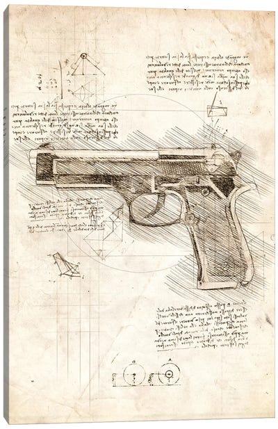 Handgun Canvas Art Print