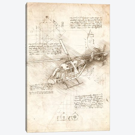 Helicoptor Canvas Print #CVL48} by Cornel Vlad Canvas Art
