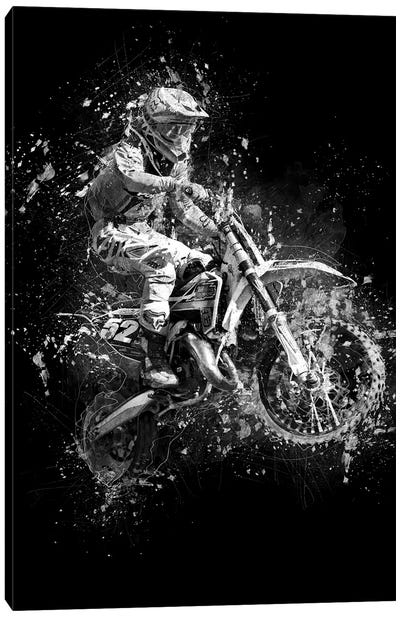 Dirt Bike Jump Canvas Art Print