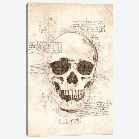 Human Skull Canvas Print #CVL53} by Cornel Vlad Canvas Print