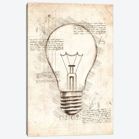 Light Bulb Canvas Print #CVL54} by Cornel Vlad Canvas Art