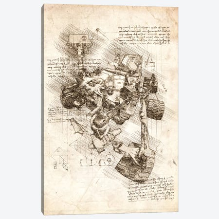 Mars Curiosity Rover Canvas Print #CVL55} by Cornel Vlad Canvas Wall Art