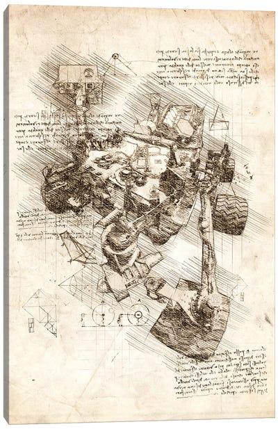 Mars Curiosity Rover Canvas Art Print