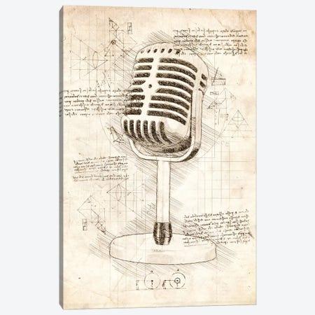 Microphone Canvas Print #CVL56} by Cornel Vlad Canvas Wall Art