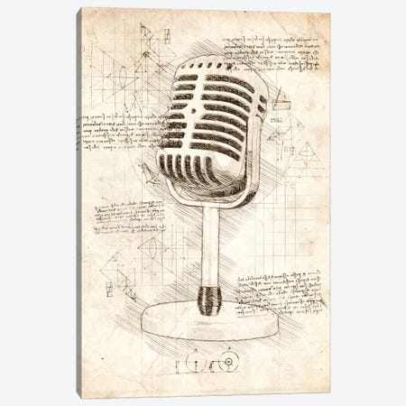 Microphone Canvas Print #CVL56} by Cornel Vlad Canvas Wall Art