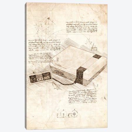 NES Console Set Canvas Print #CVL58} by Cornel Vlad Canvas Art Print