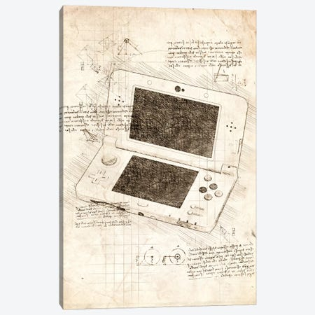 Nintendo 3DS Canvas Print #CVL59} by Cornel Vlad Canvas Print