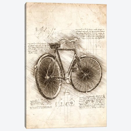 Old Bicycle Canvas Print #CVL62} by Cornel Vlad Canvas Wall Art