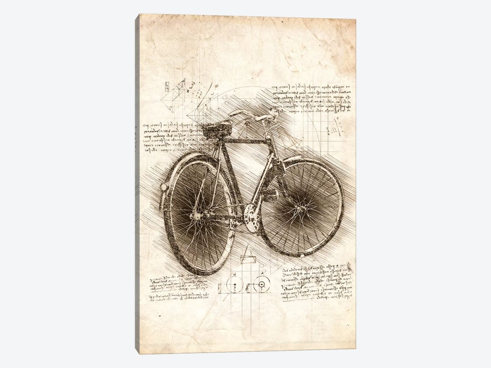 Old Bicycle by Cornel Vlad 1-piece Canvas Print
