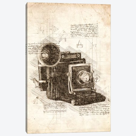Old Camera Canvas Print #CVL63} by Cornel Vlad Canvas Wall Art