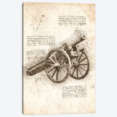 Old Canon Canvas Print #CVL64} by Cornel Vlad Canvas Art Print