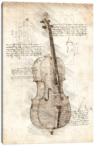 Cello Canvas Art Print