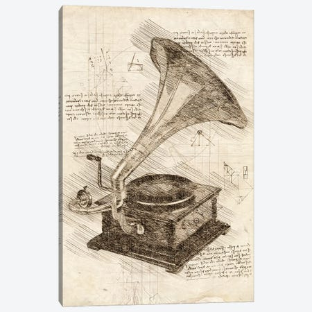 Gramophone Canvas Print #CVL66} by Cornel Vlad Canvas Print