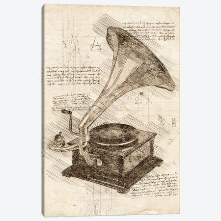 Gramophone Canvas Print #CVL66} by Cornel Vlad Canvas Print