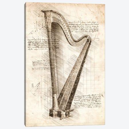 Harp Canvas Print #CVL68} by Cornel Vlad Canvas Art