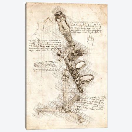 Antique Microscope Canvas Print #CVL69} by Cornel Vlad Canvas Wall Art