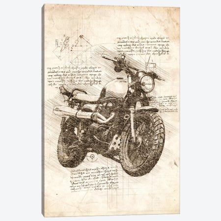 Old Motorcycle Canvas Print #CVL70} by Cornel Vlad Art Print