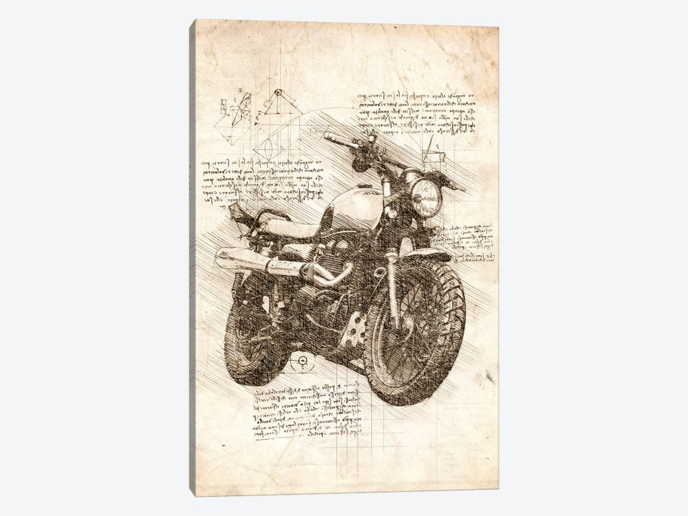 Old Motorcycle by Cornel Vlad 1-piece Canvas Wall Art