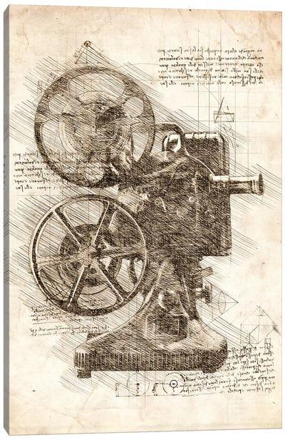 Movie Projector Canvas Art Print