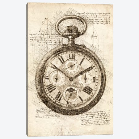 Old Pocketwatch Canvas Print #CVL72} by Cornel Vlad Canvas Print