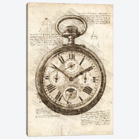 Old Pocketwatch Canvas Print #CVL72} by Cornel Vlad Canvas Print