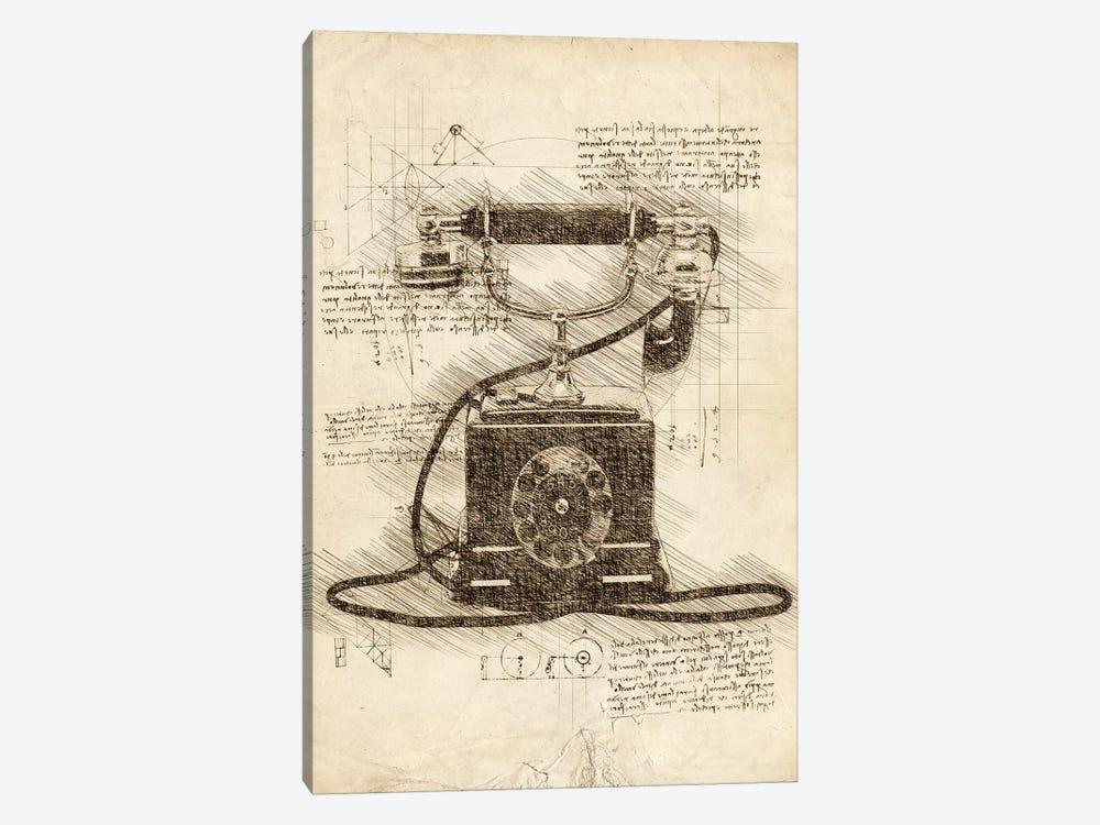 Old Telephone by Cornel Vlad 1-piece Canvas Art Print
