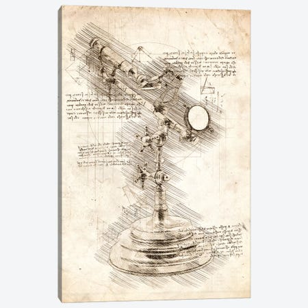 Antique Telescope Canvas Print #CVL76} by Cornel Vlad Canvas Wall Art