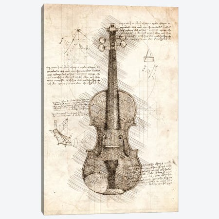 Violin Canvas Print #CVL79} by Cornel Vlad Canvas Art Print