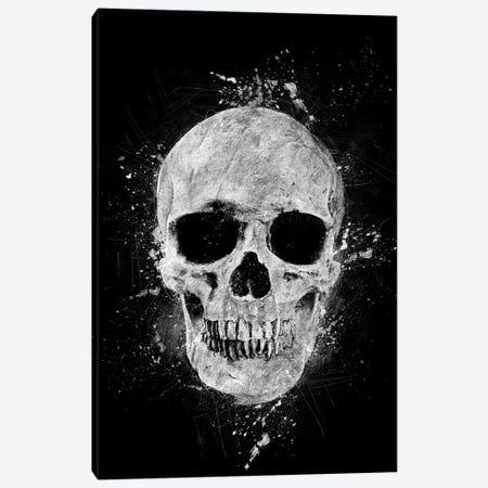 Gothic Human Skull Canvas Print #CVL7} by Cornel Vlad Canvas Wall Art