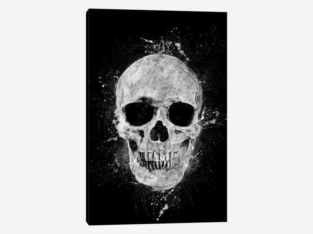 Gothic Human Skull by Cornel Vlad 1-piece Art Print