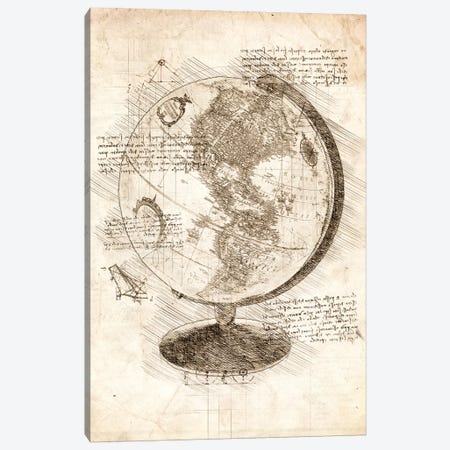 World Globe Canvas Print #CVL80} by Cornel Vlad Canvas Art