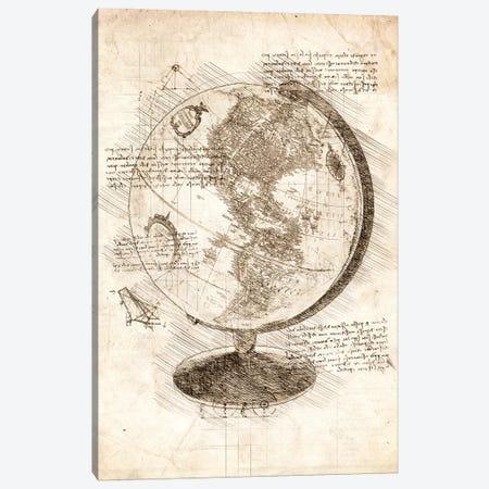 World Globe 3-Piece Canvas #CVL80} by Cornel Vlad Canvas Art