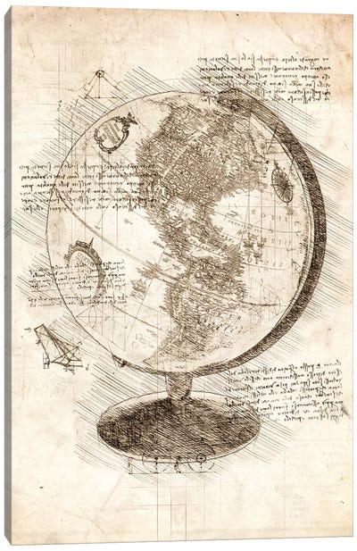 World Globe Canvas Art Print