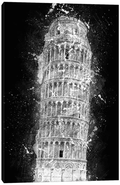 Leaning Tower Of Pisa Canvas Art Print