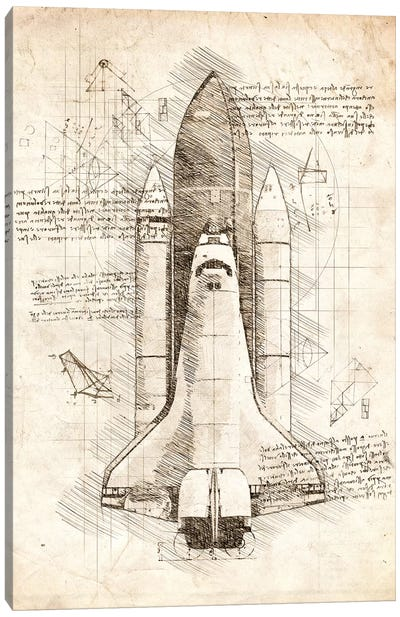 Space Shuttle Canvas Art Print