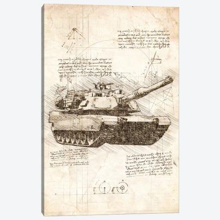 Tank Canvas Print #CVL93} by Cornel Vlad Art Print
