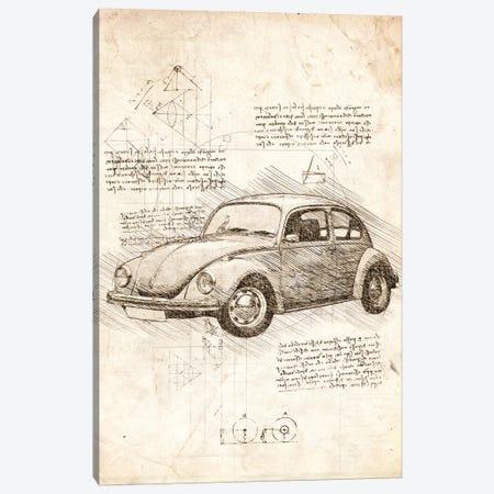 VW Beetle Canvas Print #CVL94} by Cornel Vlad Canvas Artwork