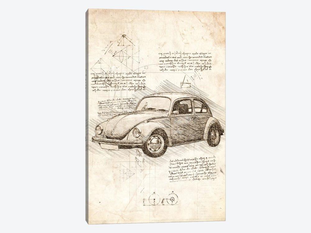 VW Beetle by Cornel Vlad 1-piece Canvas Artwork