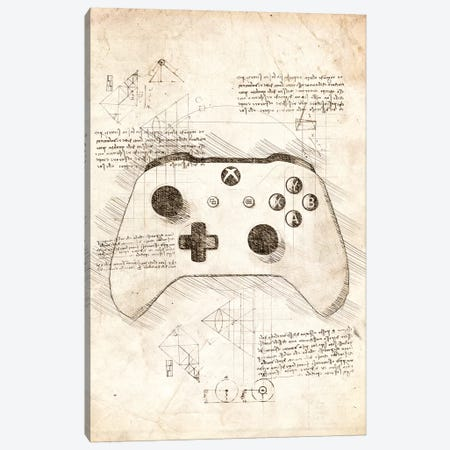 Xbox One Gamepad Canvas Print #CVL97} by Cornel Vlad Canvas Artwork