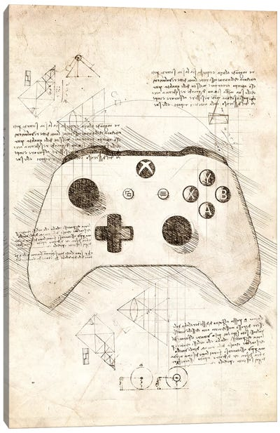 Xbox One Gamepad Canvas Art Print