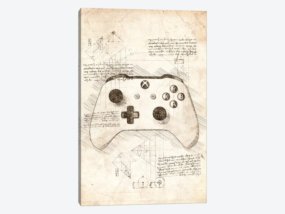 Xbox One Gamepad by Cornel Vlad 1-piece Art Print