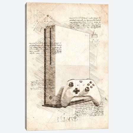 Xbox One S Canvas Print #CVL98} by Cornel Vlad Art Print