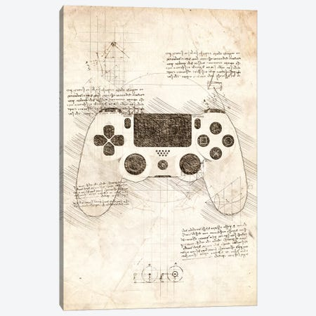 Playstation 4 Gamepad Canvas Print #CVL99} by Cornel Vlad Canvas Art Print