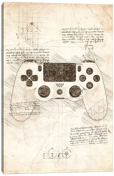 Playstation 4 Gamepad Canvas Art Print