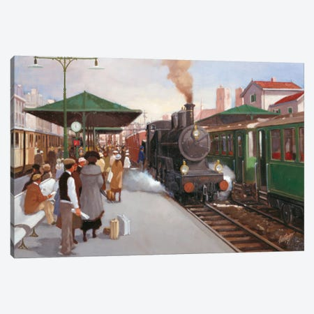 Old Train Station II Canvas Print #CVR10} by Carel van Rooijen Canvas Art Print