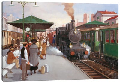 Old Train Station II Canvas Art Print