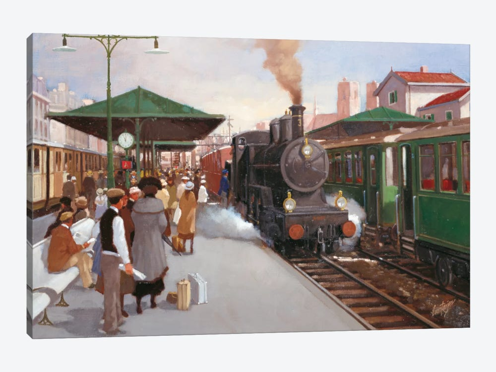 Old Train Station II 1-piece Canvas Art