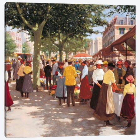 Street In The Old Days I Canvas Print #CVR11} by Carel van Rooijen Canvas Art Print